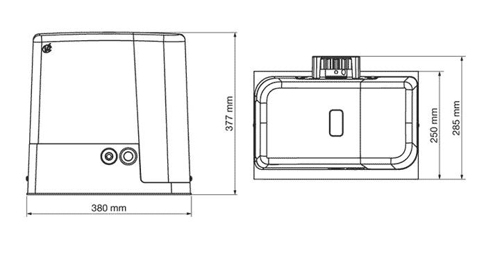ابعاد Forteco 1800 برند v2
